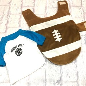 Dog clothes football buddy small